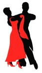 12458140 - set of  silhouettes of a dancing couple.