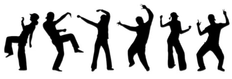 10423290 - dancing people silhouette